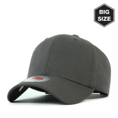 B006 BIG-Cotton plain baseball cap D.grey