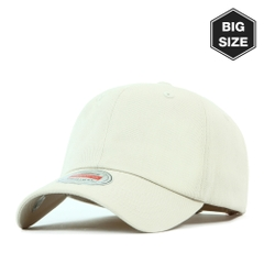 B020 BIG- washing plain ballcap Beige