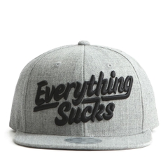 Nón Snapback FLIPPER Everything*ucks FL140 (Xám)