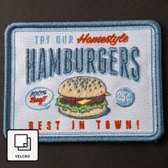 Patch dán ủi FLIPPER HAMBURGER