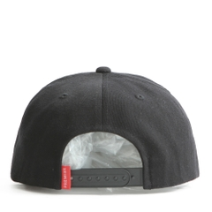 Nón Snapback PREMI3R Leather heatprinting circle P893 (Đen)