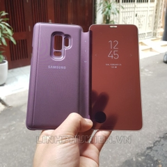 Bao da Clear View Standing Cover Samsung Galaxy S9 Plus tím (Violet)