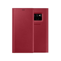 Bao da Leather View Cover Case Red đỏ Samsung Galaxy Note 9 chính hãng