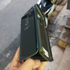 Bao da Clear View Standing Cover Samsung S9 đen (Midnigh Black)