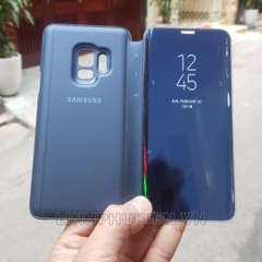 Bao da Clear View Standing Cover Samsung S9 xanh (Blue)