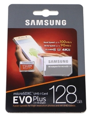 Thẻ nhớ micro SD samsung Evo plus 128GB 100MB/s 4k video (new version)