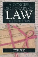 A Concise Dictionary of Law