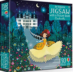 An Usborne Jigsaw With A Picture Book Cinderella