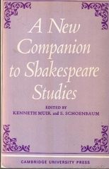 A New Companion To Shakespeare Studies