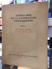 Anthologie de la Litterature Vietnamienne Tome III