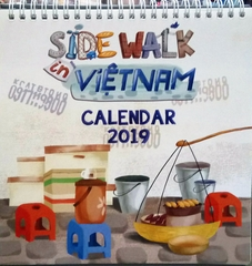 Side Walk In Vietnam Calendar 2019