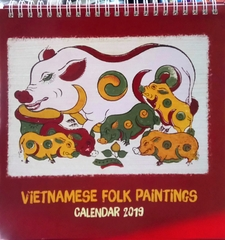 Vietnamese Folk Paintings Calendar 2019