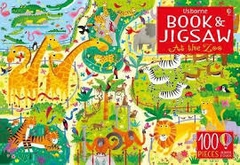 Usborne Book & Jigsaw At the Zoo