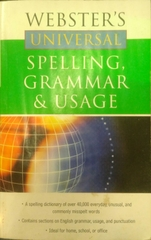 Websters Universal Spelling Grammar and Usage