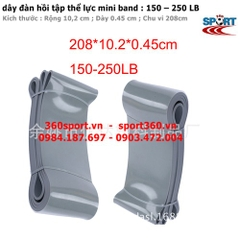 Dây cao su tập gym 150 – 250 LB