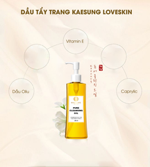 Dầu Tẩy Trang Pure Cleansing Oil Kaesung Loveskin