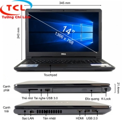 Laptop Dell N3467 (I5-7200U-4G-1TB-14