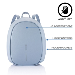 Elle Fashion Anti-Theft backpack, Light Blue