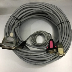Bộ Combo USB to RS232 Z-TEK Và Cáp Kết Nối Truyền Dữ Liệu Fanuc Fadal RS232 Serial Cable DB9 F to DB25 M CNC DNC Send Program For Computers Length 30M