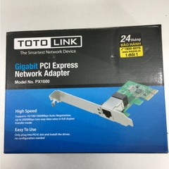 Card Mạng TOTOLINK PX1000 PCI E 1 Port Gigabit 10/100/1000 NIC Card Network