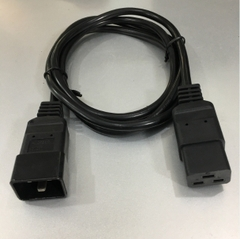 Dây Nguồn Máy Chủ Computer Server Cable Power Cord IEC C19 to C20 NINGBO ST61 LAO10F 16A 250V 16AWG 3x1.5mm² For Rack Mount PDU UPS Black Length 1.8M