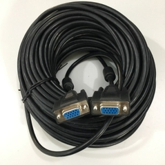 Cáp VGA 3+5 KTT Cable HD15 Female to Female VGA For Projection TV Computer Monitor Black Length 25M