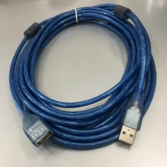 Cáp Nối Dài USB 2.0 A Male to A Female Extension Cable Blue 17ft 5M