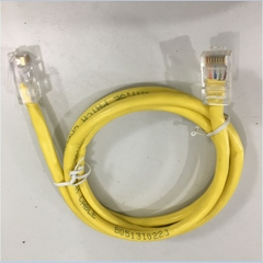 Dây Nhẩy Cat5e RJ45 UTP PVC Ethernet Network Patch Straight Through Cable Yellow Length 1M