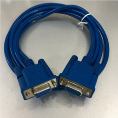 Cáp Điều Khiển DB9 Female to DB9 Female Null Modem Cable Blue Length 1.5M