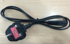 Cáp nguồn Power Cord IEC320 C7 UK Plug CABLE I-SHENG SP-62 - SS145/A BS1363/A IS-033 Length 1M