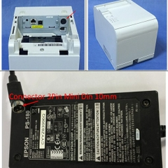 Adapter 24V 2A 48W Original EPSON PS-180 M59A For Máy In Hóa Đơn Epson TM-T90 Connector 3Pin Mini Din 10mm