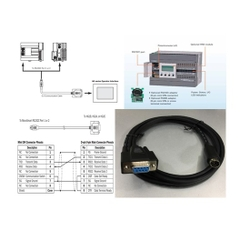 Cáp Lập Trình Communication Cable FC4A-KC1C RS232C Mini Din 8 Pin Male to DB9 Female 1.8M For PLC IDEC MicroSmart RS232C Port 1 or 2 Với PANEL HMI