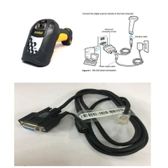 Cáp Máy Quét Symbol DS3508  Barcode Scanner CBA-R37-C09ZAR Cable RS232 to RJ50 10Pin Cable with DC Power Length 1.8M