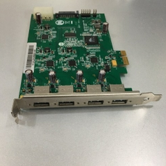 Card PCI Express to 4 Port USB 3.0 Super Speed 5Gbps IOI Technology Corporation U3X4-PCIE1XE101 For Computer Desktop MT