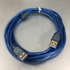 Cáp Link USB 2.0 Hai Đầu Cắm Dương USB 2.0 Type A Male to Type A Male Cable Blue Length 3M