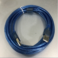 Cáp Link USB 2.0 Hai Đầu Cắm Dương USB 2.0 Type A Male to Type A Male Cable Blue Length 5M
