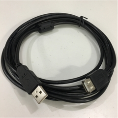 Cáp Nối Dài USB 2.0 A Male to A Female Extension Cable Black 10ft 3M