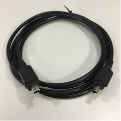 Cáp IEEE 1394a FireWire 400 Cable 4 Pin to 4 Pin E210567 AWM 2919 80C 30V Black Length 1.8M