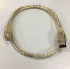 Cáp IEEE 1394a FireWire Cable 6 Pin to 4 Pin Clear Color Length 1.2M