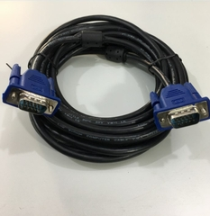 Cáp VGA 3+5 KTT Cable HD15 Male to Male VGA For Projection TV Computer Monitor Black Length 5M