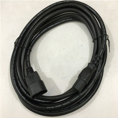 Dây Nguồn Máy Chủ Longwell LS-60 LS-14 AC Power Cord IEC320 C13 to IEC320 C14 10A 250V 18AWG 3x1.5mm² For Server IBM HP DELL LENOVO Và APC Smart-UPS SRT 8000VA RM 230V Length 4M