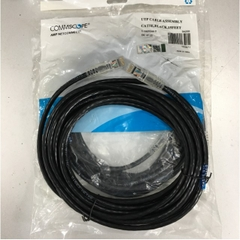 Dây Nhẩy COMMSCOPE AMP 1-1859244-5 CAT 5E UTP PVC CM Ethernet Network Patch Straight Through Cable Black Length 5M