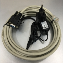 Bộ Cáp Và Sạc Máy Quét Mã Vạch Honeywell 53-53000-3  RS232 Cable DB9 Female 5M Coiled 5V External Power Grey For Honeywell Metrologic MK3780