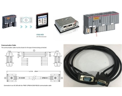 Cáp Lập Trình Connection to an AC-500 with the TK681 CP600-AC500 RS232 Communication Cable Kết Nối ABB HMI CP600 Series Với ABB AC500 PLC Qua Giao Thức RS232 DB9 Male to DB9 Male Black Length 3M