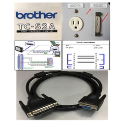 Cáp Lập Trình CNC MACHINE BROTHER TC-S2A Computer Và DNC One to BROTHER CNC Serial Data Cable DB9 Female to DB25 Male Length 1.8M