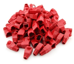 Đầu Boot color chụp dây mạng cat5/cat6 RJ45 Rubber Boot Packs For Network / Patch Cables (100PCS) RED