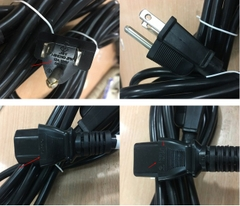 Dây Nguồn I-SHENG SP-301 IS-14 NEMA 5-15P to C13 AC Power Cord 12A 125V 3x1.25mm 16AWG Length 2M