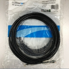 Dây Nhẩy COMMSCOPE AMP 1-1859244-0 CAT 5E UTP PVC CM Ethernet Network Patch Straight Through Cable Black Length 3M
