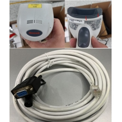 Cáp Máy Quét Mã Vạch Honeywell 53-53000-3 Serial RS232 Cable Coiled 5M 5V External Power White