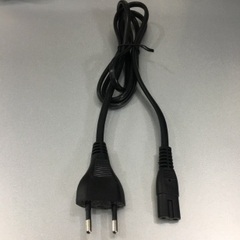 Dây Nguồn Số 8 SUN FAI SF230 Chuẩn 2 Chân Đầu Tròn AC Power Cord Schuko CEE7/16 Euro Plug to C7 2.5A 250V 2x0.75mm For Printer or Adapter Cable FLAT PVC Black Length 1.5M